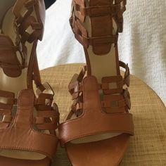 Velvet Angel strappy sandals Neutral platform sandals high end Velvet Angels Shoes Platforms