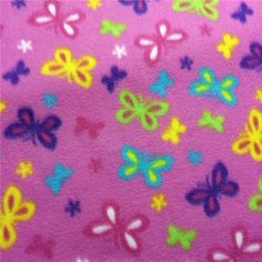 Bright Pretty Butterfly Fleece Fabric