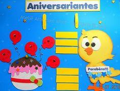 Painel de Aniversariantes da Galinha Pintadinha | Pra Gente Miúda