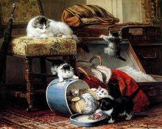 Les chats d'Henriette Ronner-Knip (cat painting)
