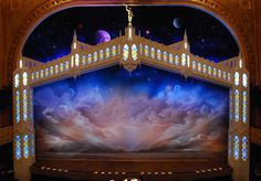 """Can't wait for this to come to London! """"The Book of Mormon"""" Show Curtain - Set Design by Scott Pask Theatre Design, Prop Design, Stage Design, Set Design, Design Concepts, Design Elements, Waitress Book, The Band's Visit, Book Of Mormon Musical"""
