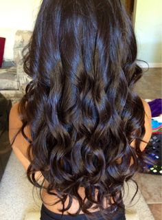 dark hair color, curls How my hair use to look before I chopped it off :( wah