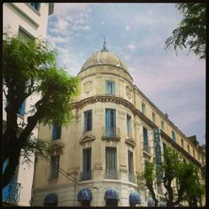 #downtown Tunis: another ordinary street, and a unique look & story behind each #building. #urban photo by Sarah Ben Hamadi, #Tunisia