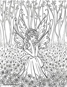 printable coloring pages of fairies - Free Printable Coloring Pictures