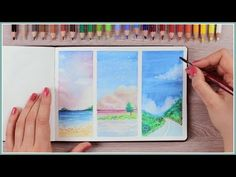How to Paint with Watercolor Pencils - Painting Ideas for Beginners | Art Journal Thursday Ep. 40 - YouTube