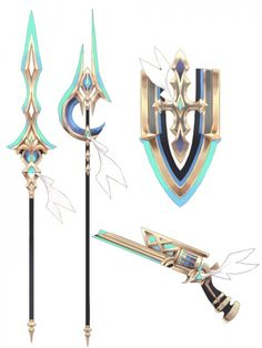 209_04 Cosplay Weapons, Anime Weapons, Sword Design, Weapon Concept Art, Character Design Inspiration, Sword Art, Fantasy Characters, Game Design, Character Art