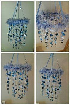 Star baby mobile with dream catcher