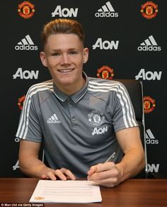 Youngster Scott McTominay has signed a new and improved contract with Manchester United Simple House, Home Improvement Projects, Manchester United, Chef Jackets, The Unit, Mens Tops, Sign, Red, Hair