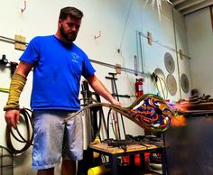 #handblownglass #glass #michaelpanetta #glassblowing #art Glassblower Michael Panetta - hand blown glass