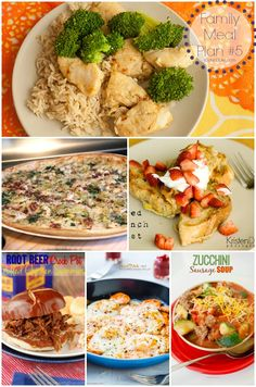 Family Meal Plan ideas! I love finding new recipes!