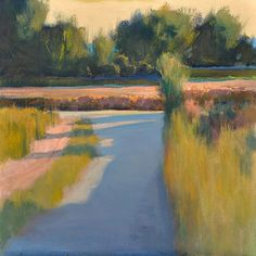 """Backroad to the Abbey - Oil on canvas, 24"""" x 24""""Ian Roberts"""
