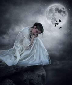 :: Night under the moon Composer :: by SV-Blackart on DeviantArt Fantasy Magic, Fantasy Art, Cute Images For Dp, Love Wallpapers Romantic, Under The Moon, Couple Photoshoot Poses, Fairytale Art, Moon Goddess, Beautiful Love