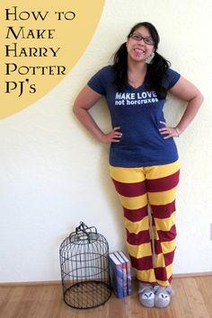 Gryffindor Harry Potter Pants at Rae Gun Ramblings - Love that shirt!