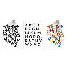 "Held&Lykke Alphabet-Karten ""ABConfetti"", ""ABCircus"" und  ""ABCircus black"". #heldundlykke #selekkt"
