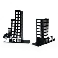 Cityscape Bookends (pair)