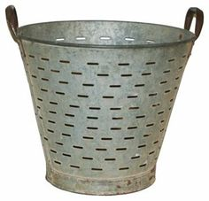 One Kings Lane - East Coast Accent - French Olive Colander Bucket