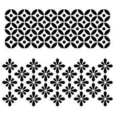 Designer Stencils Circle Flower Motif Stencil mil - The Home Depot Stencil Templates, Stencil Patterns, Stencil Designs, Stencil Painting On Walls, Fabric Painting, Folk Embroidery, Embroidery Patterns, Indian Embroidery, Embroidery Stitches