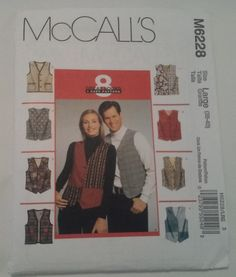 M6228 McCall's Misses and Men's Lined Vest by MammieandPappysPlace