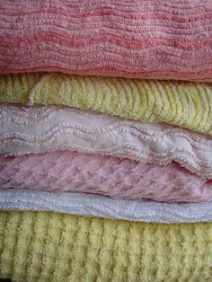 Chenille bedspreads. Mom and Dad had a pretty white one.