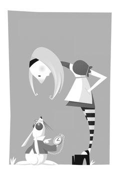 Ilustrações editoriais - livros / Book illustrations by Fabio P Corazza, via Behance