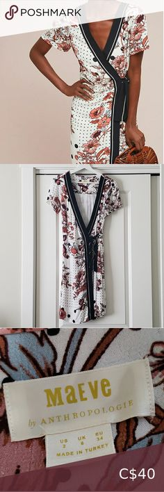 Anthropologie 'Aubrey' wrap dress, size 2 (fits 4) Stunning all occasions dress. Fully lined. 100% viscose. Worn once! Unfortunately purple colourings ran slightly with washing hence discounted price. Anthropologie Dresses Light Blue Midi Dress, Silk Midi Dress, Belted Shirt Dress, Knit Dress, Wrap Dress, Anthropology Dresses, Boho Floral Dress, Cowl Neck Dress, Tiered Dress