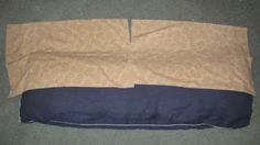 Use 2 pillowcases and sew them together   DIY Body Pillow Case