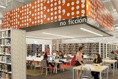 Un supermercado convertido en biblioteca. McAllen, Texas. Con una extensión de 11.566 m2, es la biblioteca de una sola planta más grande de todos los EE.UU.