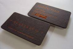 Forefront Business cards Copper foiled onto Keaykolour Jet Black 400gsm then round cornered forme cut. Designed by Studio CC & Co.