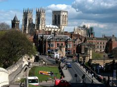 'The City of York' by Robert Gipson on artflakes.com as poster or art print $16.63A typical postcard view across the City of York in England. Along the old city wall on the left, over the rooftops to the massive York Minster in the distance,