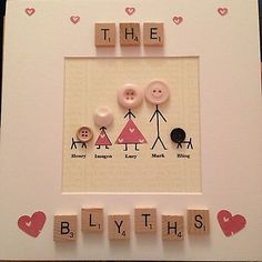 Details about Stickmen Scrabble Box Frame Personalised Gift Wedding Birthday Mothers Day Scrabble Letter Crafts, Scrabble Frame, Scrabble Art, Box Frame Art, Box Frames, Scrabble Kunst, Craft Gifts, Diy Gifts, Hobbies And Crafts