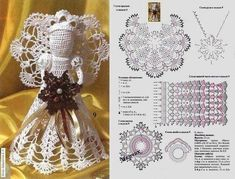 Crochet Angel with graph directions Crochet Christmas Ornaments, Christmas Crochet Patterns, Holiday Crochet, Crochet Snowflakes, Christmas Knitting, Christmas Angels, Christmas Crafts, Christmas Christmas, Crochet Angel Pattern