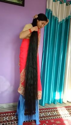 30 minutes by Shahnaz Husain For Long, Strong, Beautiful Hair 30 minutes by Shahnaz Husain For Long, Strong, Beautiful Hair Indian Hairstyles, Girl Hairstyles, Hairstyles Videos, Wedding Hairstyles, Long Indian Hair, Really Long Hair, Long Black Hair, Dark Hair, Red Hair
