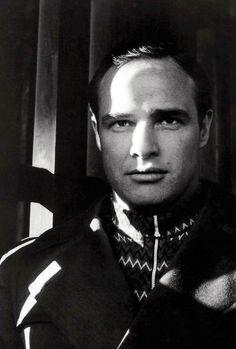 Marlon Brando photographed by Cecil Beaton, 1954.