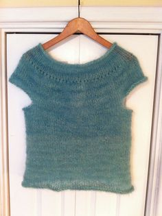 Ravelry: goddesssheri's Fluffy Aqua Tee Shirt