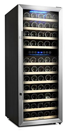 vinotemp 11 875 in 21 bottle dual zone thermoelectric mirrored wine rh pinterest com