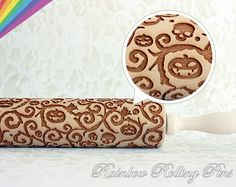 Pumpkin Halloween Theme Engraved Rolling pin