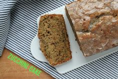 zucchini olive oil cake with lemon glaze - see how it differs from the recipe in book