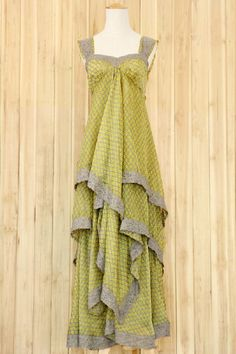Bohemian Floral Print Sleeveless Tiered Maxi Chiffon Dress OASAP.com