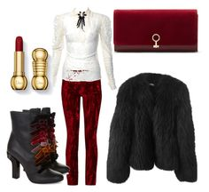 red and black for Russia by star82a on Polyvore featuring polyvore fashion style Balenciaga Haider Ackermann Marco de Vincenzo Louise et Cie clothing