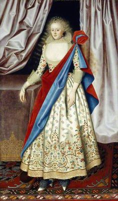 Lady Isabella Rich, attributed to William Larkin, c. 1614-18.  Likely the daughter of Robert Rich, 1st Earl of Warwick, and Lady Penelope Devereux.  She married Sir John Smythe (or Smith); she may earlier have been married to a man surnamed Rogers.  If this i.d. is correct, her grandmother was Lettice Knollys, and she descends from Mary Boleyn.  She had a daughter, who had several children, but who left no grandchildren.