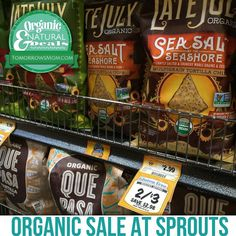 $1.50 each! . . This weeks Organic Sales are great!! For more details go to: tmget.info/4sprouts  Or go Here follow the link in my Bio @Tomorrowsmom Also You can type in the direct link in your browser! for this weeks match ups on sale items and coupon links  #feminineenergy #loa #organic #fitmom #health101 #conscience #wakeupamerica #change #nongmo #organiclife #crunchymama #organicmom #gmofree #organiclifestyle #weareone #ecofriendly #savetheearth #familysavings #frugal #backtoschool…
