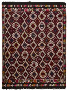 Vintage jijim rug , handmade of naturally dyed wool in the town Denizli around 45 years ago. Turkish Kilim Rugs, Persian Rug, Axminster Carpets, Affordable Rugs, Geometric Rug, Cool Rugs, White Rug, Indoor Rugs, Contemporary Rugs