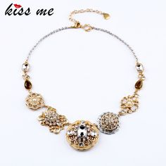 New Styles 2017 Fashion Jewelry  Elegant Resin Flowers Pendant Necklace Christmas Gifts #Affiliate