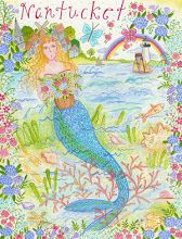 "Be sure to visit the 2015 calendar prints done by ""The Nantucket Mermaid. Mermaid Shell, Mermaid Art, Mermaid Poster, Print Calendar, 2015 Calendar, Nantucket Style, Pleasant View, Mermaids And Mermen, Just Dream"