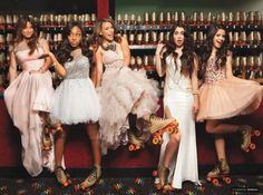 Fifth Harmony in their prom dresses love their dresses