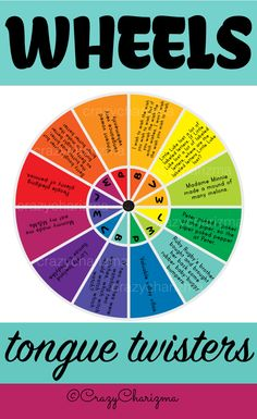 Tongue Twisters Wheels teaching resource contains 13 pages. The resource can be used with grades 2-6 during ELA lessons or children of Beginning and Elementary level during EFL / ESL lessons. This resource contains 3 colorful and 3 black and white wheels, wheels with ?, keys. | CrazyCharizma