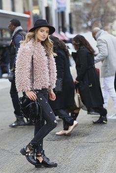 New York Fashion Week F/W 2014 street style…Sonya Esman on the ...