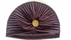 Turbante color marron chocolate con broche por MACALAR en Etsy #turban #turbante #headband #hairaccessories #complementos #boda #invitadasboda #fiesta #party #fashion #fancy #elegante #haare