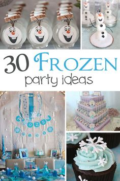 30 Frozen Party Ideas for a fabulous Frozen themed party! See lots of Frozen party ideas on www.prettymyparty.com.