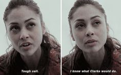 [gifset] #2x06 #FogOfWar #RavenReyes // honestly, many characters hate Clarke for her decisions no matter if they were the right call but I love how Raven has always stuck with Clarke. Even before/after Finn.
